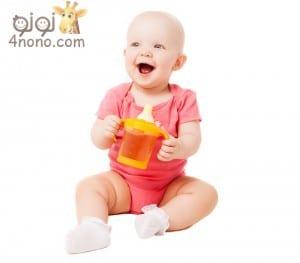 متى يستطيع الاطفال تناول العصائر الطبيعية