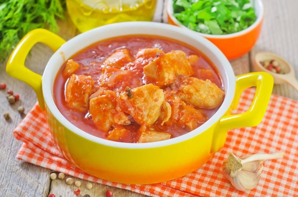 Photo of الدجاج مع الطماطم والبطاطس وجبة للأطفال من 10-12 شهر