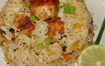 طريقة عمل ارز بالسمك