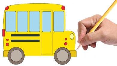 Photo of تعليم طريقة رسم سيارة المدرسة بطريقتين بالصور