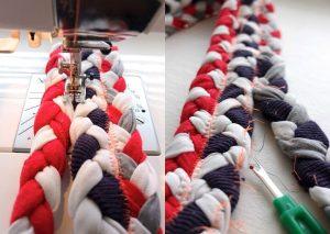 طريقة عمل سجادة من القماش خطوة بخطوة