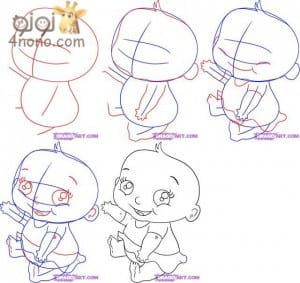 طرق مختلفة لـرسم طفل
