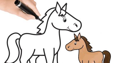 Photo of طريقة رسم الحصان بالخطوات بطريقة بسيطة بالصور