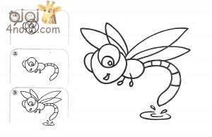 تعليم الطفل رسم نحله بالصور