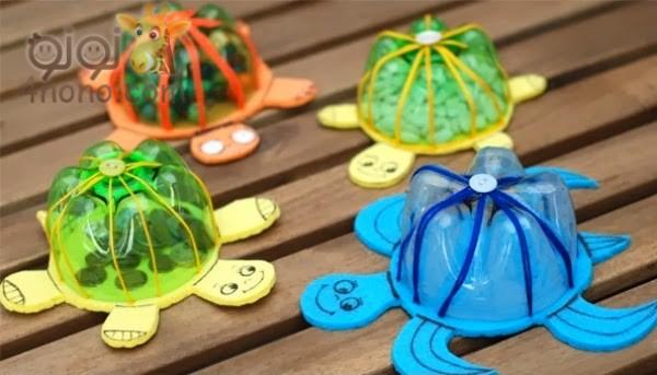 Photo of طريقة عمل لعبة السلحفاة للاطفال من الزجاجات القديمة بالصور