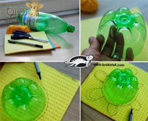 Recycled Plastic Bottles into Turtles (2)