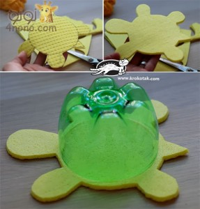 Recycled Plastic Bottles into Turtles (3)
