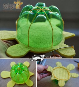 Recycled Plastic Bottles into Turtles (4)