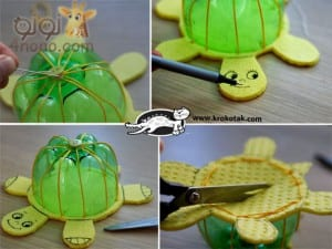 Recycled Plastic Bottles into Turtles (5)