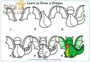تعليم الطفل طريقه رسم الحيوانات وبعض الاشكال بالخطوات