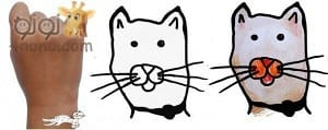 شكل القطة