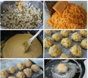 طريقة عمل كرات المكرونة بالجبنة بالصور تحفة