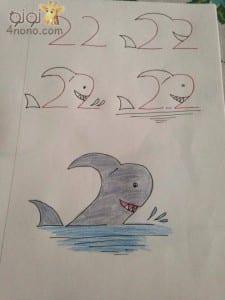 تعليم الطفل الرسم بالأرقام بالخطوات المصورة