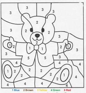 صفحات تلوين للصغار والكبار بالارقام لزيادة التركيز