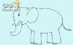 علمي طفلك طريقه رسم الفيل بالصور