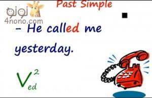 شرح الماضى البسيط The past Simple Tense بالتفصيل