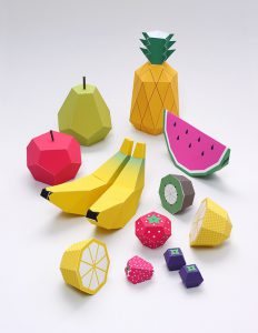 كيف تصنع العاب الفواكه المجسمة للاطفال من الورق الملون