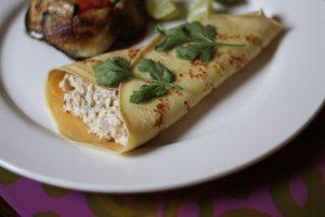 كريب لذيذ بالجبنة مع البقدونس