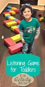 الاستماع لعبة للأطفال الصغار في الأجازة