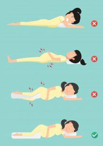 وضعية النوم الصحيحة للحامل وصحة الجنين