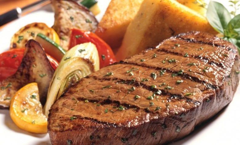 طريقة شوي ستيك لحم بالمستردة