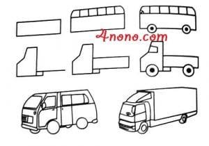 كيفية رسم سيارة بأكثر من شكل بالصور والخطوات تعليم الرسم فورنونو