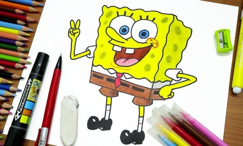 طريقة رسم سبونج بوب تعلم خطوة خطوة بالصور تعليم الرسم فورنونو